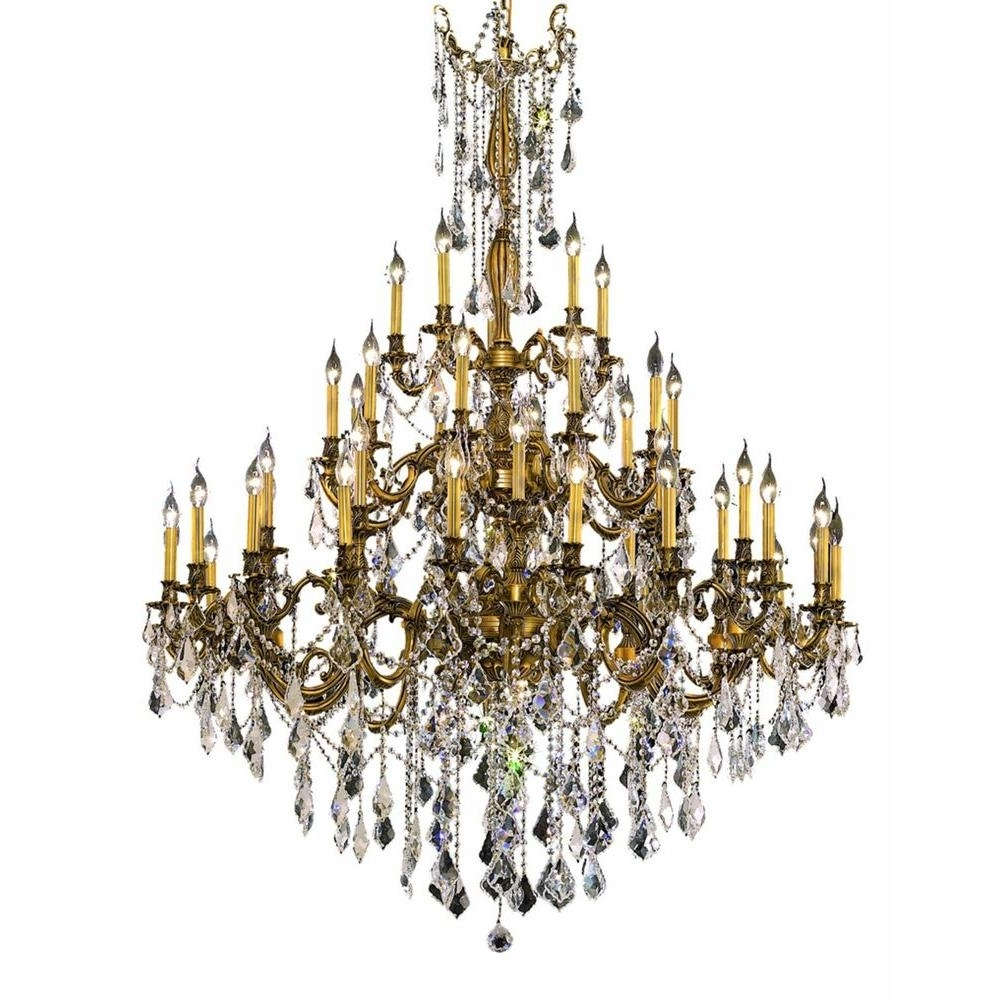 Well Known French Gold Chandelier In Elegant Lighting 45 Light French Gold Chandelier With Clear Crystal (View 18 of 20)