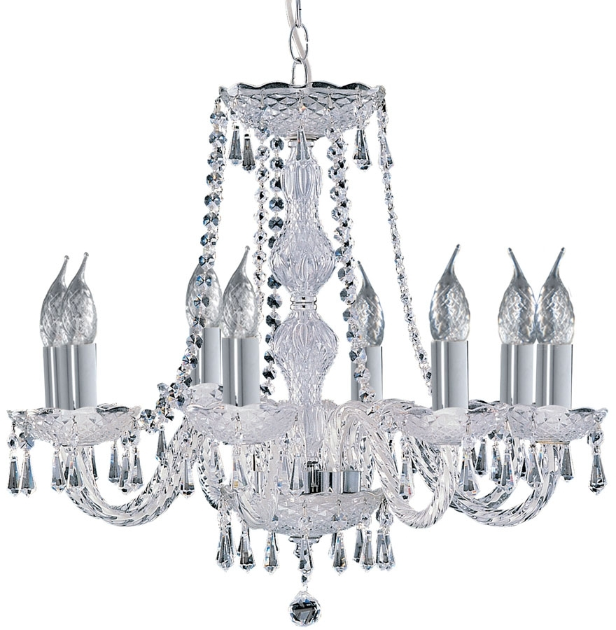 Well Known Georgian Chandelier With Hale Georgian Style 8 Light Crystal Chandelier 218 (View 13 of 20)