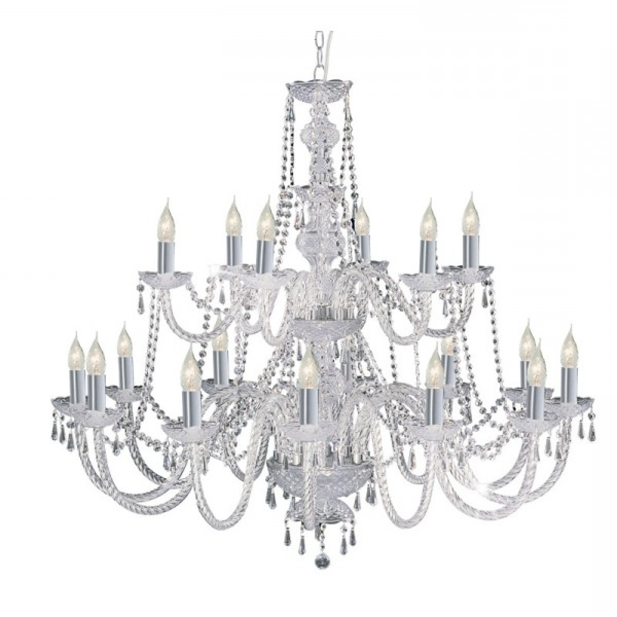 Well Known Georgian Style Crystal Chandelier With Barley Twist Glass And Chrome Intended For Georgian Chandelier (View 12 of 20)
