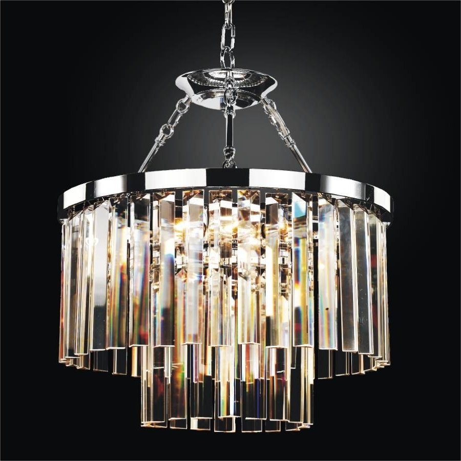 Well Known Glass Chandeliers Intended For Modern Glass Pendant Chandelier To Semi Flush Mount (View 2 of 20)