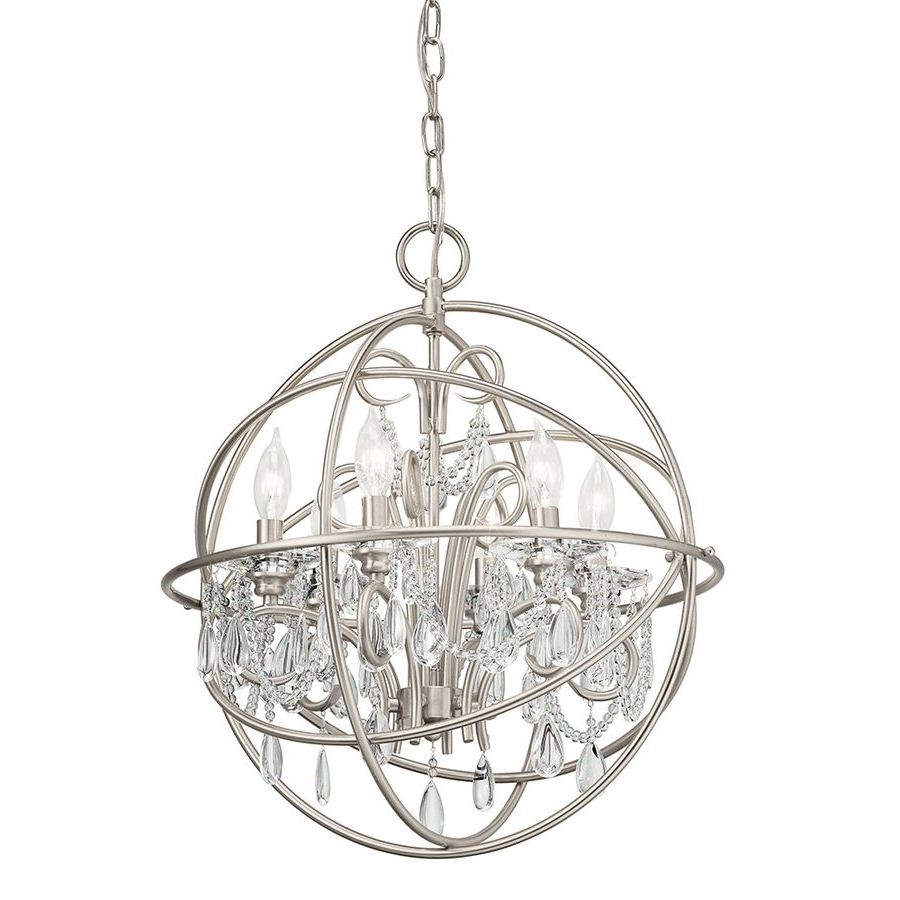 Well Known Globe Chandeliers For Chandeliers : Crystal Globe Chandelieronze Examples Collection (View 17 of 20)