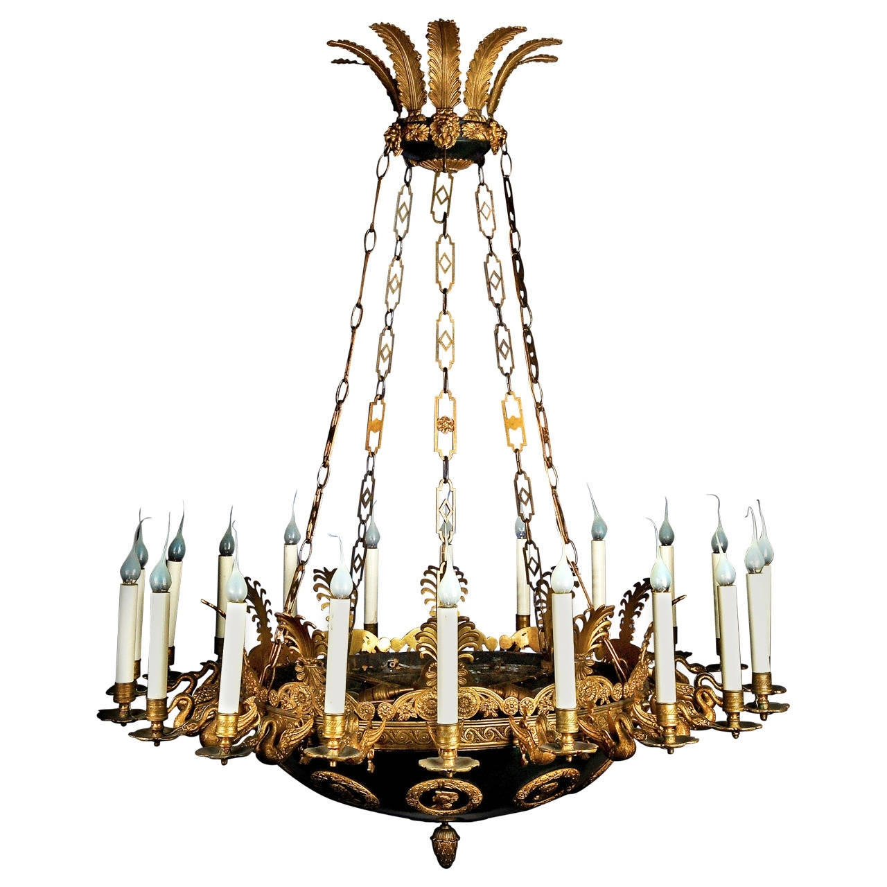 Well Known Large Bronze Chandelier In Impressive And Large Antique French Empire Gilt And Patina Bronze (View 19 of 20)