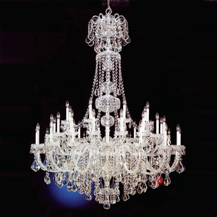 Well Known Lead Crystal Chandeliers Pertaining To Chandeliers ~ Modern Large Crystal Chandelier For Foyer Modern Big (View 15 of 20)