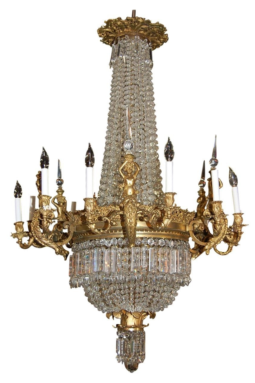 Well Known Magnificent French Bronze And Crystal Chandelier Via Ruby Lane With French Bronze Chandelier (View 18 of 20)
