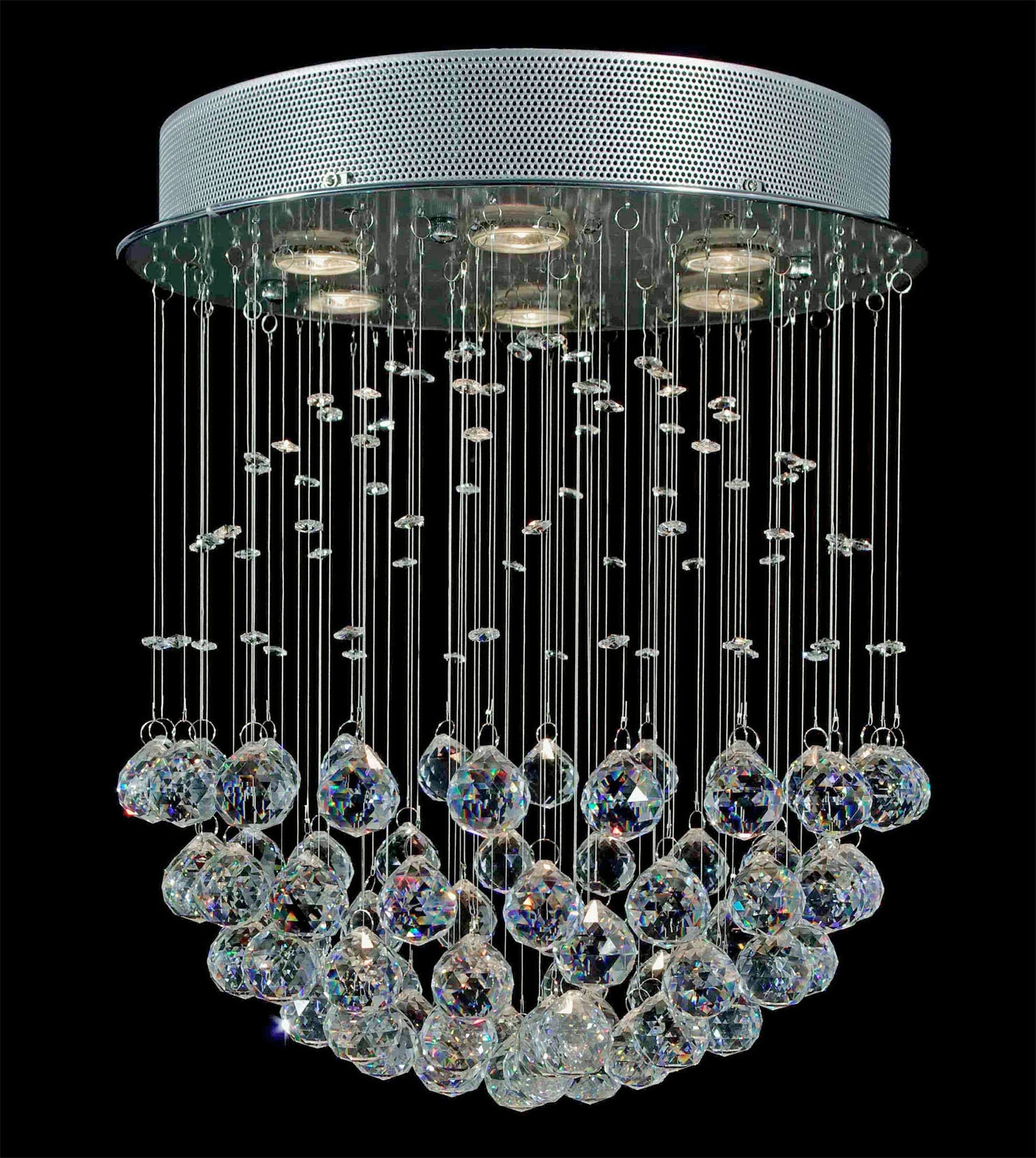 Well Known Mirrored Chandelier In Chandelier (View 20 of 20)