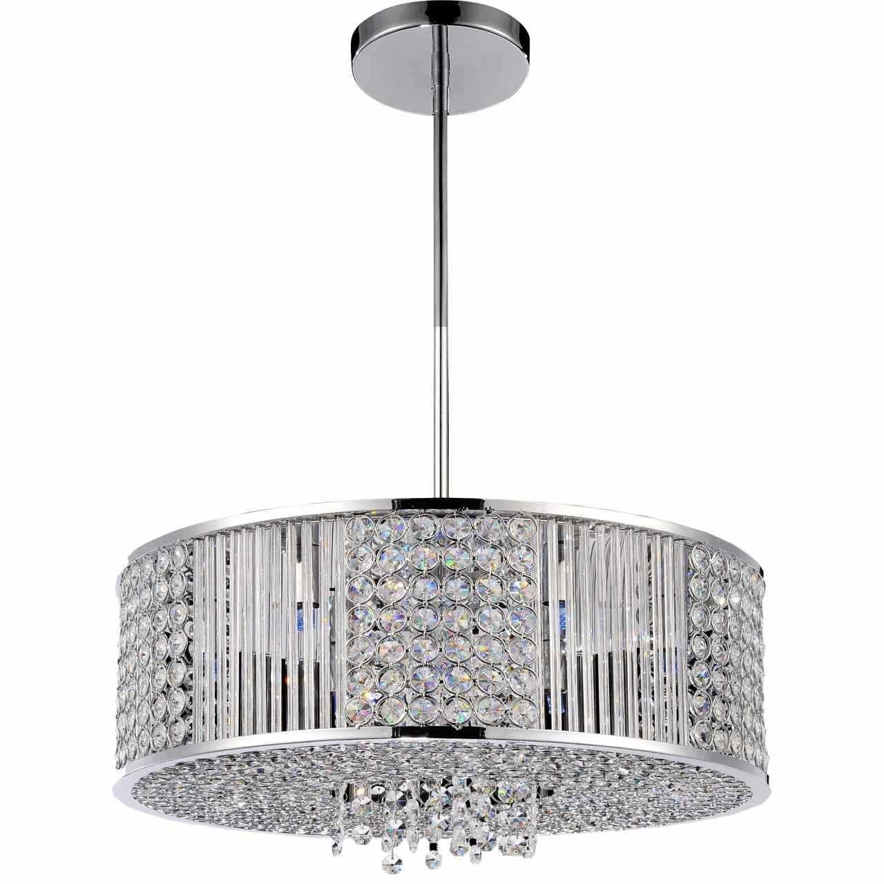 Well Known Modern Chrome Chandeliers Regarding Brizzo Lighting Stores (View 12 of 20)