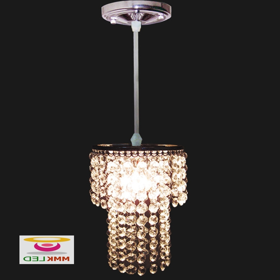 Well Known Modern Small Chandeliers With Single Head Crystal Chandeliers Restaurant Bedroom Hallway Lighting (View 19 of 20)