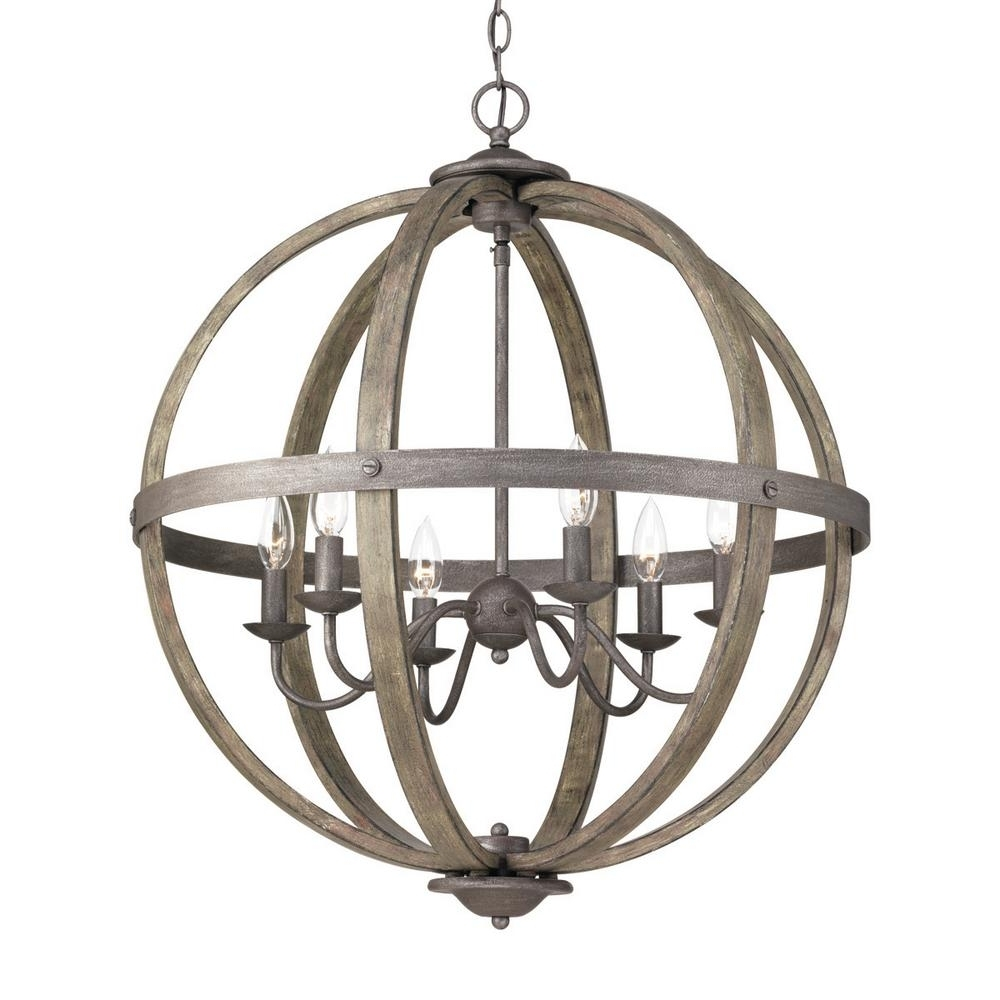 Well Known Orb Chandelier With Regard To Progress Lighting Keowee Collection 6 Light Artisan Iron Orb (View 7 of 20)