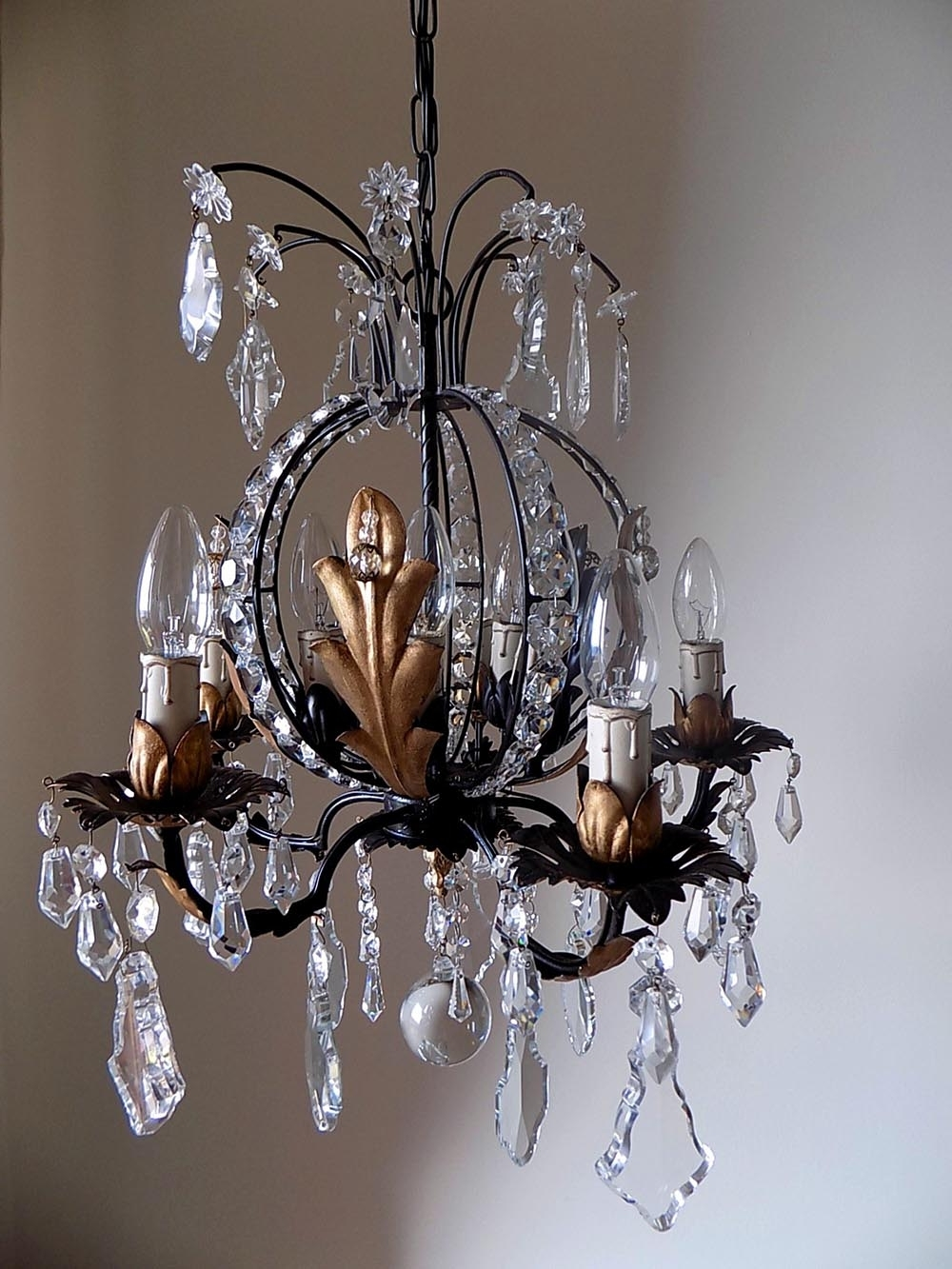 Well Known Rare French Vintage Chandelier Crystal 10 Lights – Lorella Dia With Regard To French Chandelier (View 19 of 20)