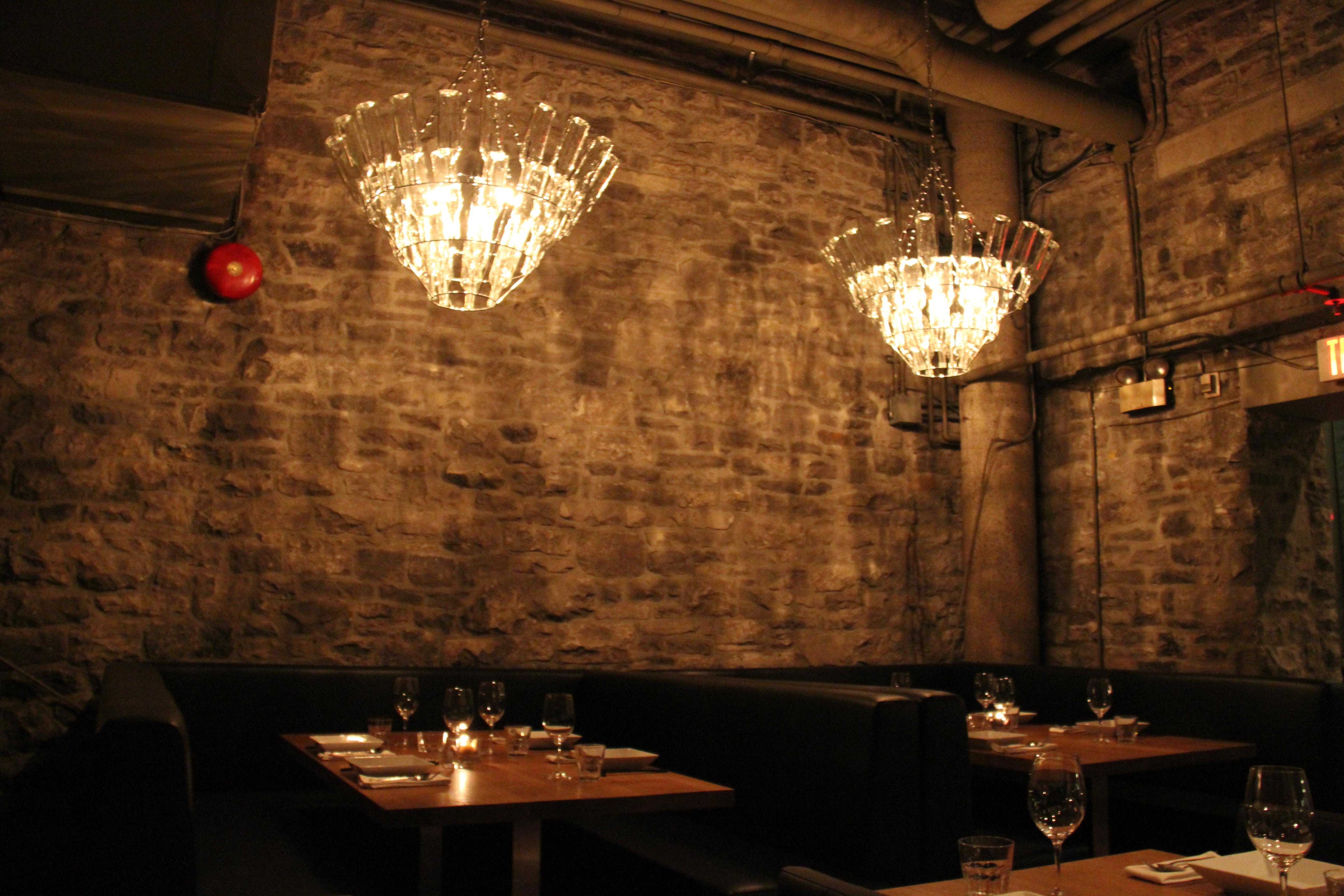 Well Known Restaurant Chandelier In Sidedoor Contemporary Restaurant – Gastronomic – Ottawa (View 16 of 20)
