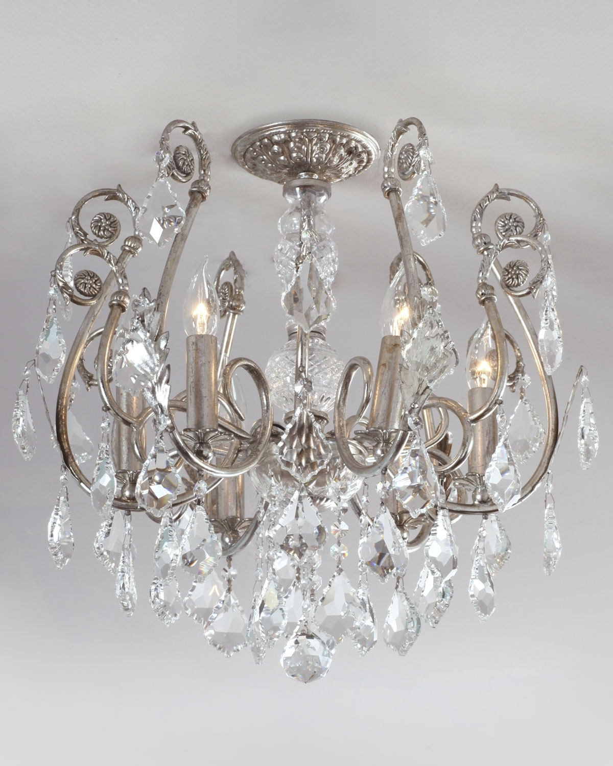 Well Known Short Chandelier Throughout Mini Chandelier Flush Mount Light Fixture (View 7 of 20)