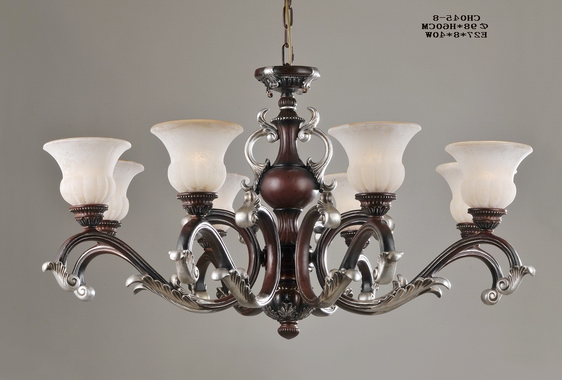 Well Liked Antique Chandeliers In Luxurious 8 Light Rust Antique Chandeliers For Sale (View 8 of 20)