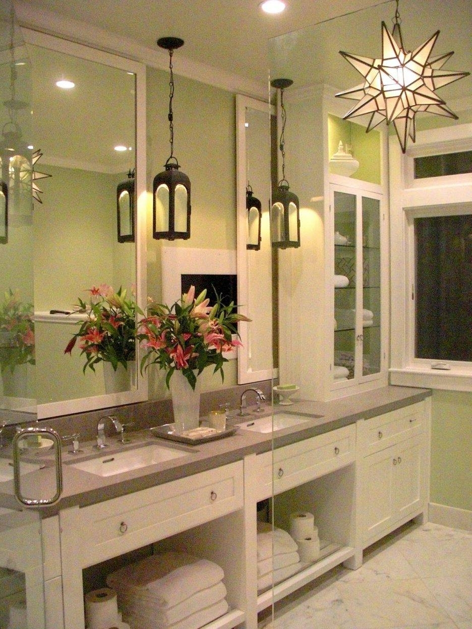 Well Liked Bathroom Design : Best Ofled Bathroom Lighting @ Chandelier Bathroom Throughout Chandelier Bathroom Ceiling Lights (View 17 of 20)