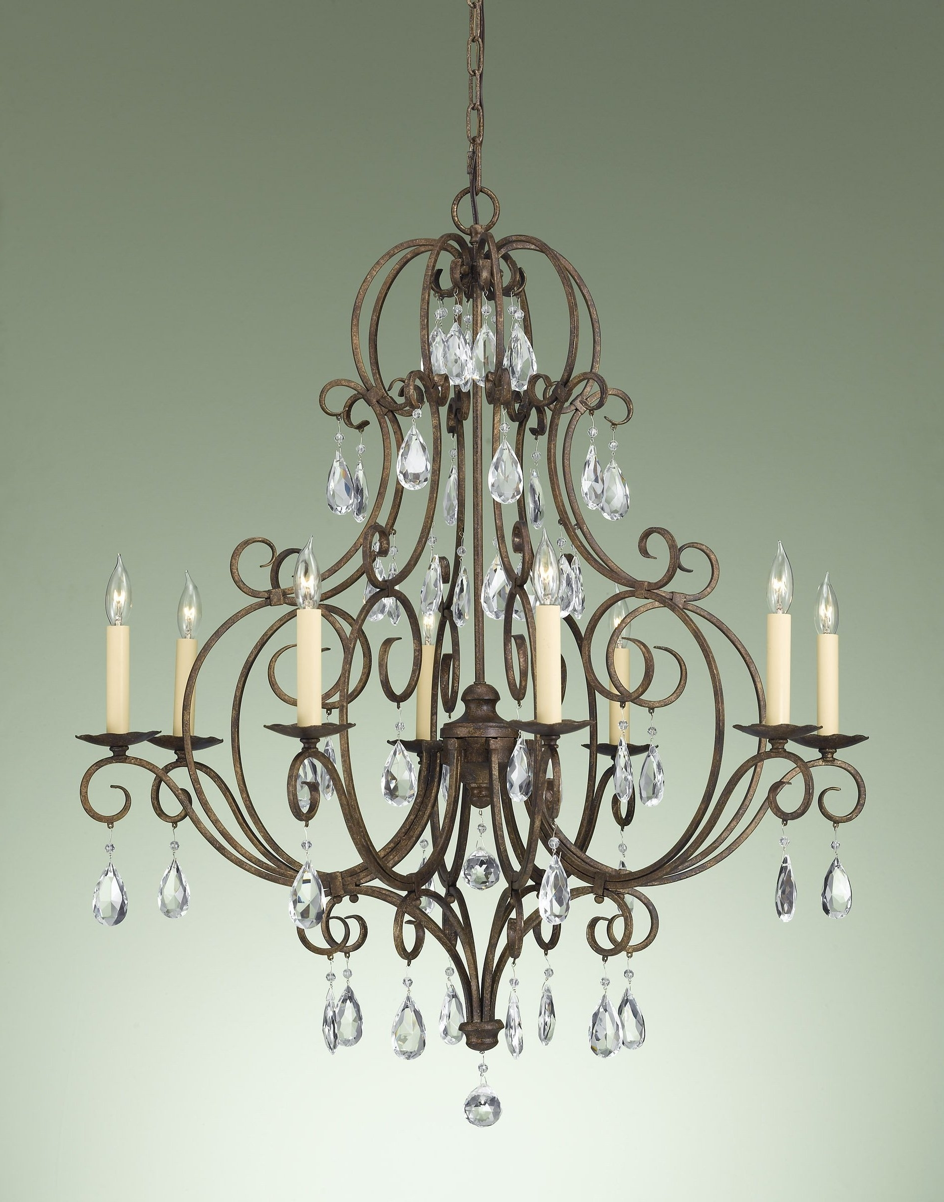 Well Liked Bronze And Crystal Chandeliers Within Bronze And Crystal Chandeliers – Otbsiu (View 11 of 20)