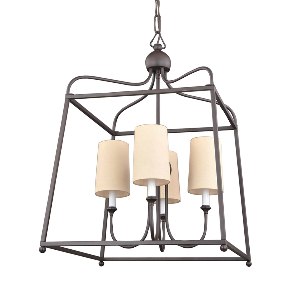 Well Liked Bronze Modern Chandelier With 4 Light Dark Bronze Modern Chandelier : 2244 Db (View 16 of 20)