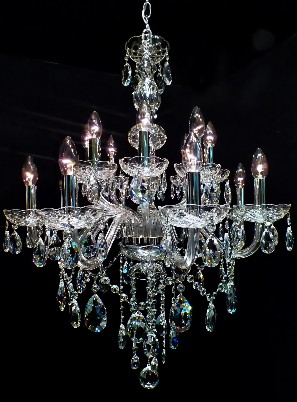 Well Liked Chandelier #crystal Lustre Toledo 16 Braços (08 + 08) (View 19 of 20)