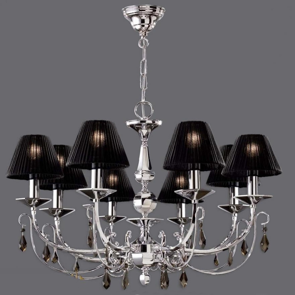 Well Liked Chandeliers With Black Shades Throughout Furniture : Small Chandeliers Pink Chandelier White Lantern Pendant (View 19 of 20)