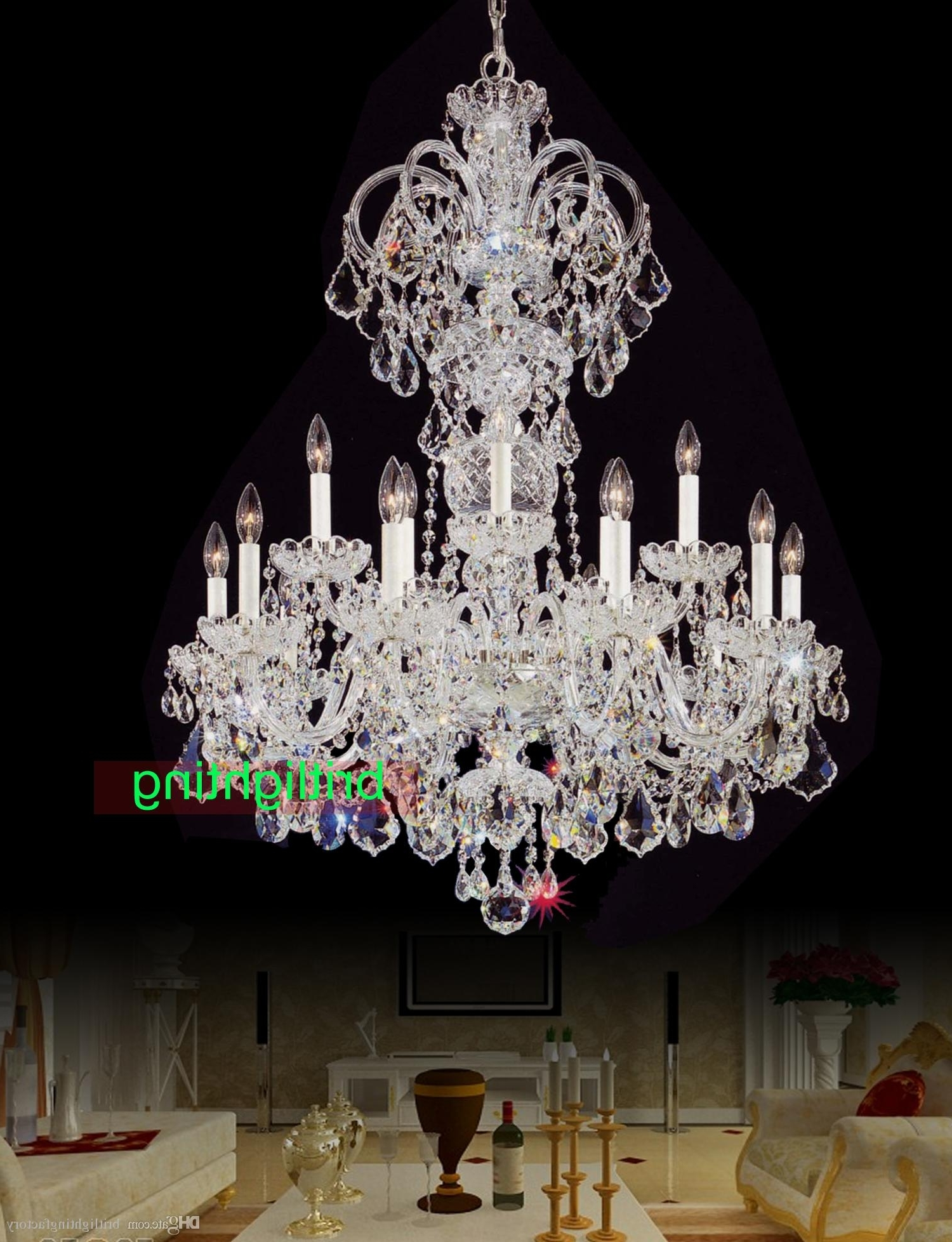 Well Liked Cheap Big Chandeliers In Modern Big Chandelier Lamps European Candle Chandeliers Versailles (View 2 of 20)