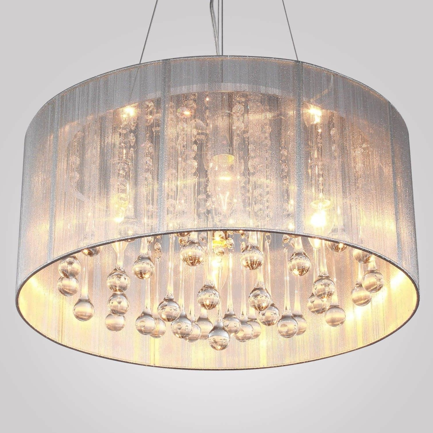Well Liked Clip On Drum Chandelier Shades Intended For Chandeliers Design : Magnificent Best Clip On Drum Chandelier Shades (View 20 of 20)