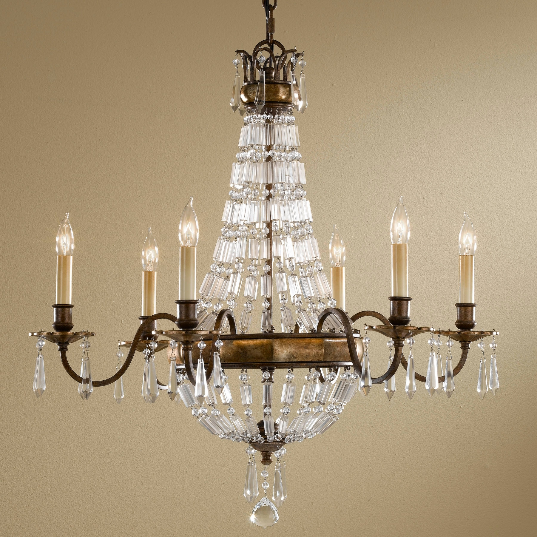 Well Liked Feiss F2461/6Obz/brb Crystal Bellini Six Light Chandelier In Feiss Chandeliers (View 20 of 20)