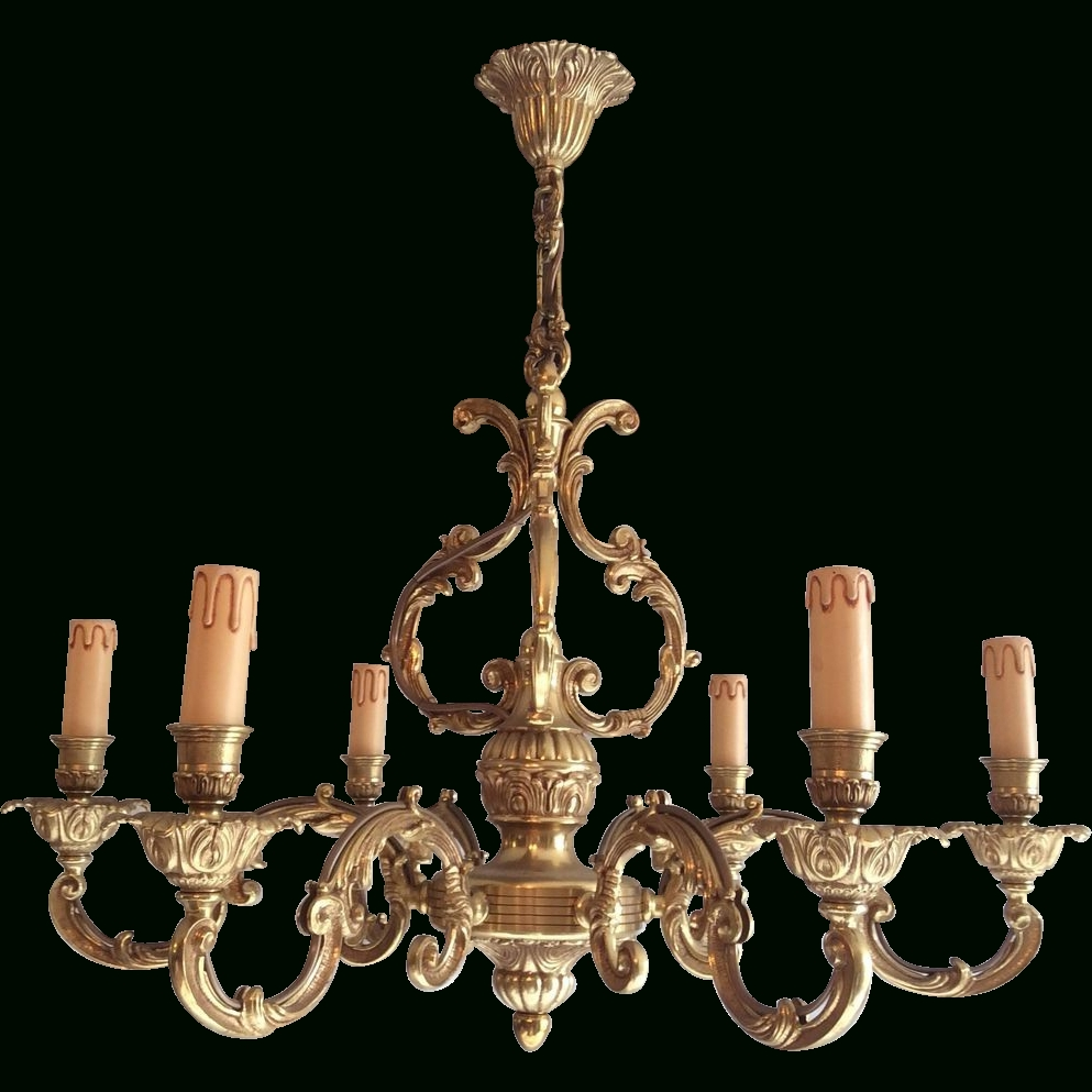 Well Liked French Bronze Chandelier With 6 Arms In Louis Xv Style (View 19 of 20)