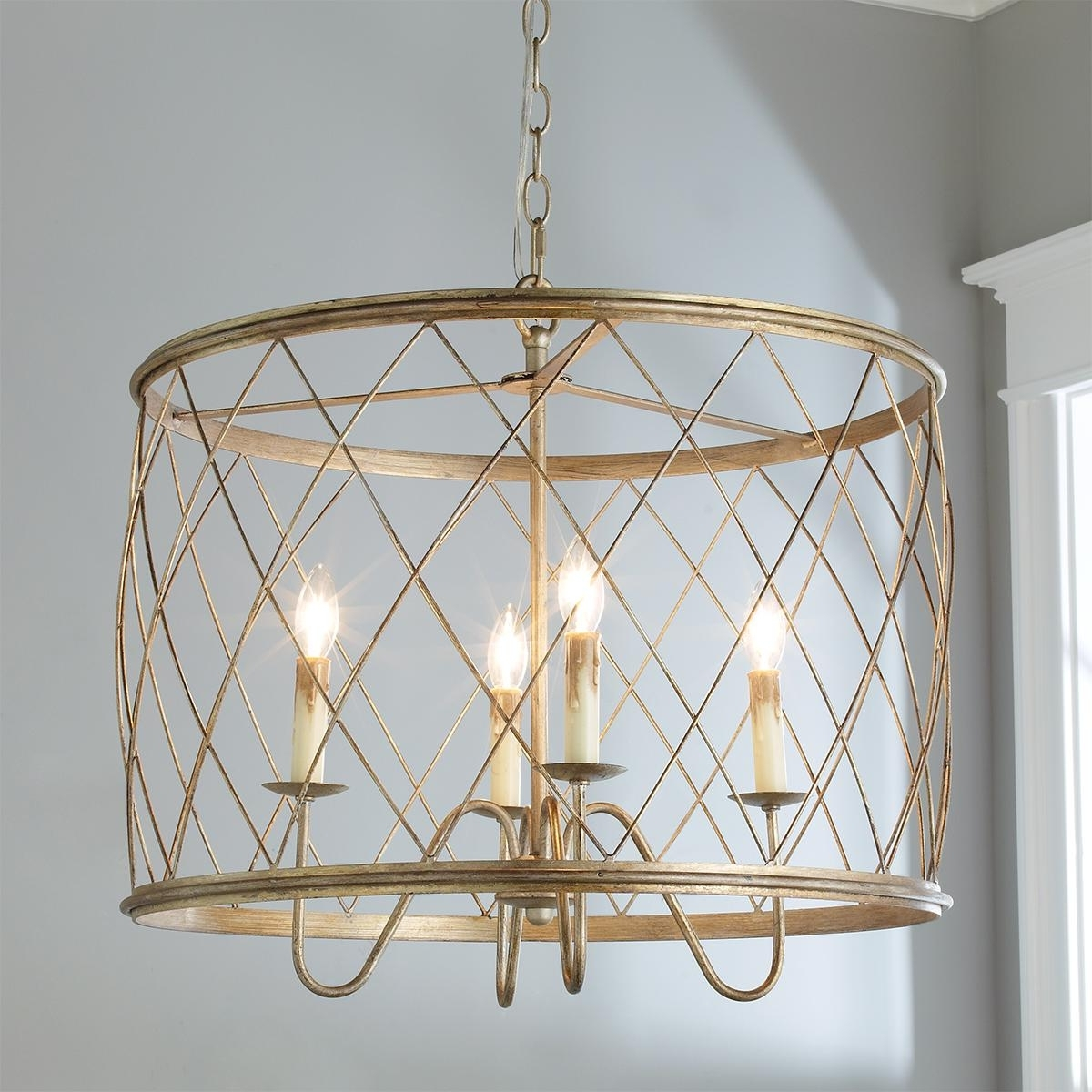 Well Liked Interior: Cage Chandelier For Unique Interior Lighting Design Ideas Within Caged Chandelier (View 20 of 20)
