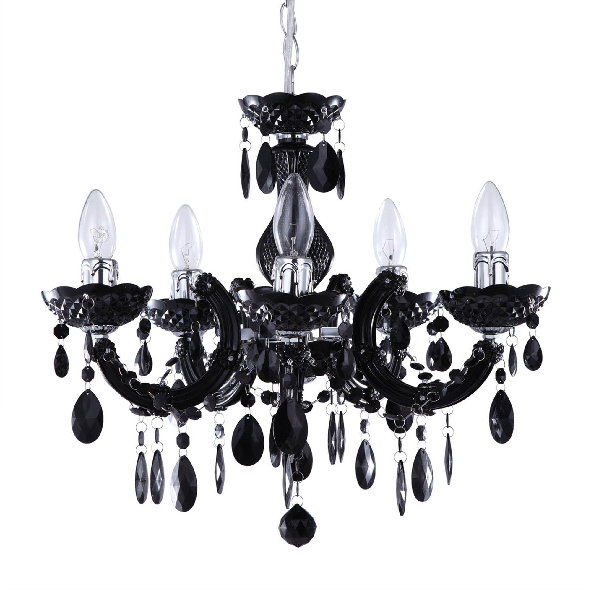 Well Liked Large Black Chandelier Regarding Marie Therese Black Chandelier (View 20 of 20)