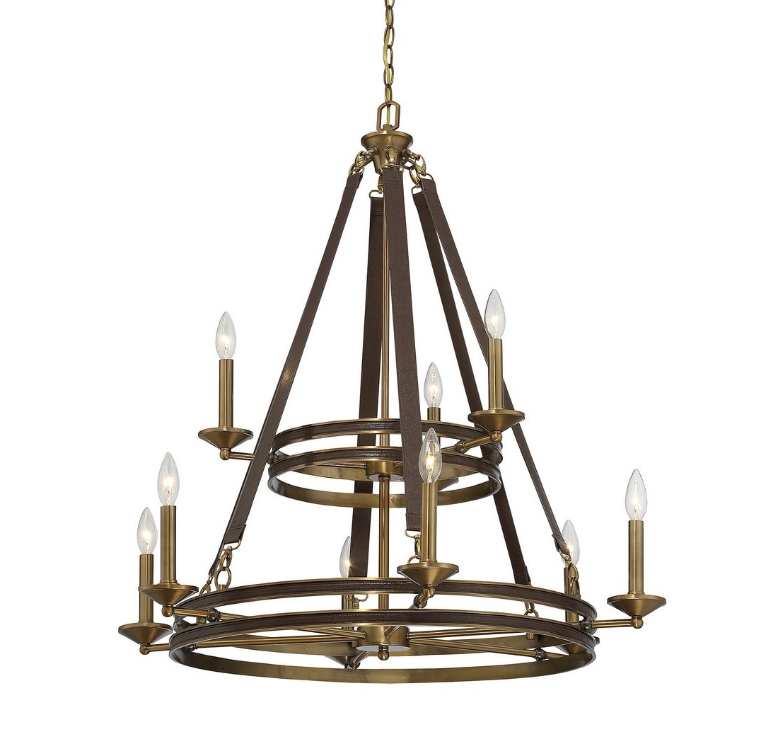 Well Liked Leather Chandeliers For Chandeliers Design : Fabulous Bi Zoom Light Chandelier Golden (View 13 of 20)
