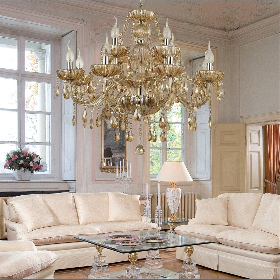Well Liked Living Room Chandeliers Pertaining To Chandelier Crystal Luxury Classic 2 Tiers Living 12 Lights,living (View 14 of 20)