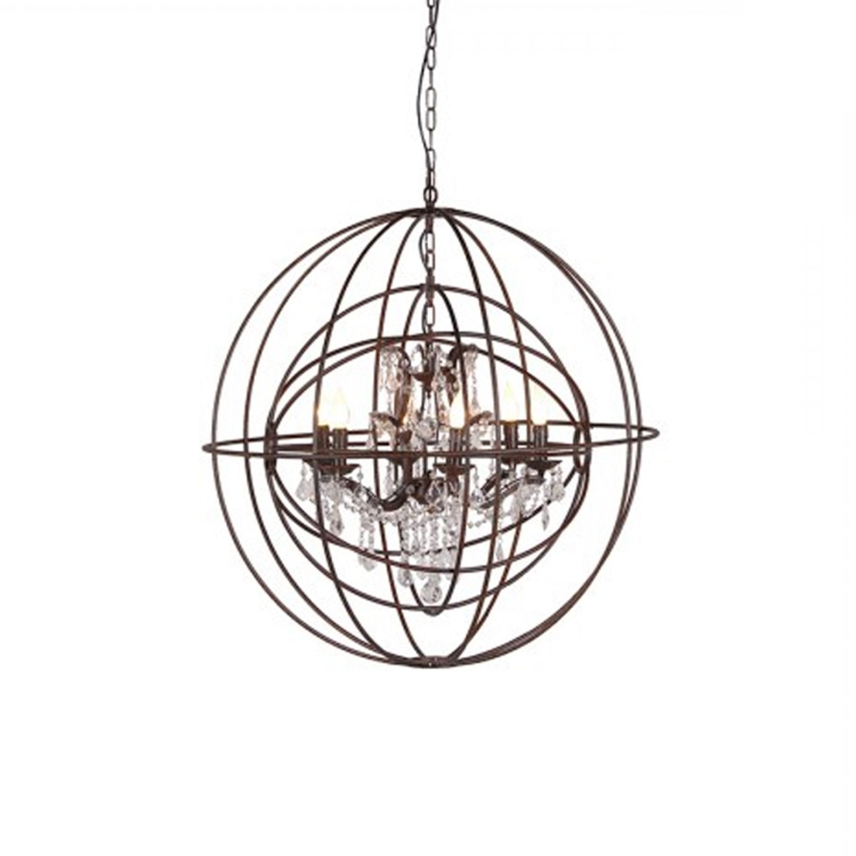 Well Liked Metal Sphere Chandelier Throughout Metal Sphere Chandelier (View 11 of 20)