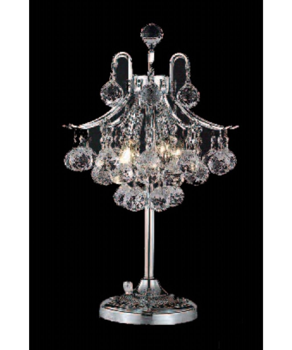 Well Liked Mini Chandelier Table Lamps Regarding Lighting: Spectacular Mini Chandelier Table Lamp For Modern Living (View 20 of 20)