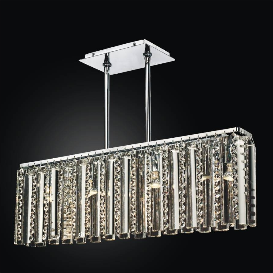 Well Liked Rectangular Glass Chandelier – Crystal Chandelier (View 20 of 20)