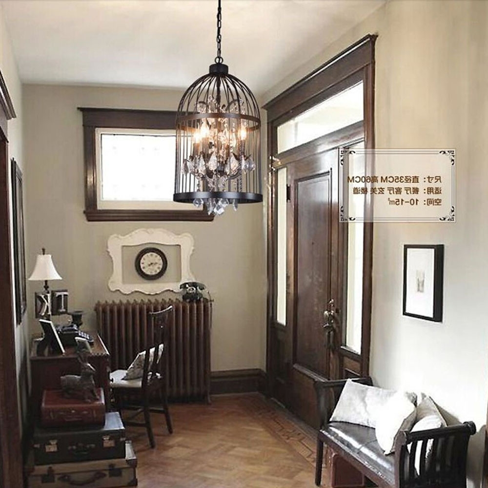 Well Liked Restaurant Chandelier Intended For Iron Personality Bird Cage Bedroom Living Room Restaurant (View 17 of 20)