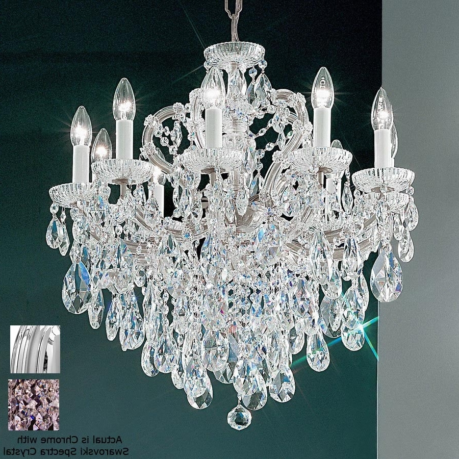 Well Liked Shop Classic Lighting Maria Theresa 10 Light Chrome Crystal Regarding Expensive Crystal Chandeliers (View 9 of 20)