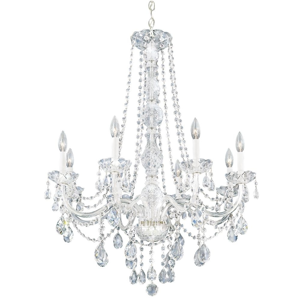 White Crystal Chandelier – Crystal Chandeliers: The Elegant Room In Latest Crystal Chandeliers (View 19 of 20)