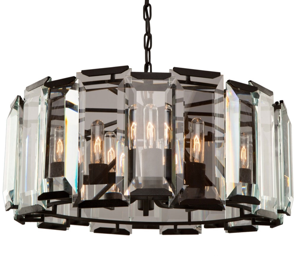 Widely Used Artcraft Ac10269 Palisades Modern Matte Black Chandelier Lighting In Black Chandelier (View 15 of 20)