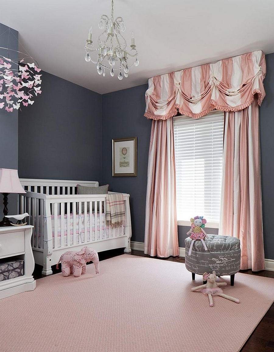 Widely Used Bedroom Classic Crystal Chandelier For Baby Nursery With White Crib Within Crystal Chandeliers For Baby Girl Room (View 3 of 20)
