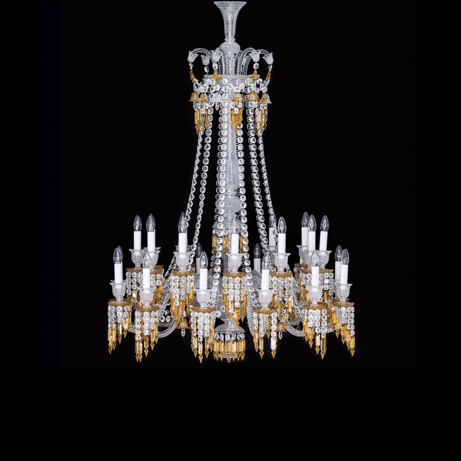 Widely Used Chandelier 24l Baccarat Zenith Charleston 2809432 Regarding Long Chandelier Lights (View 13 of 20)