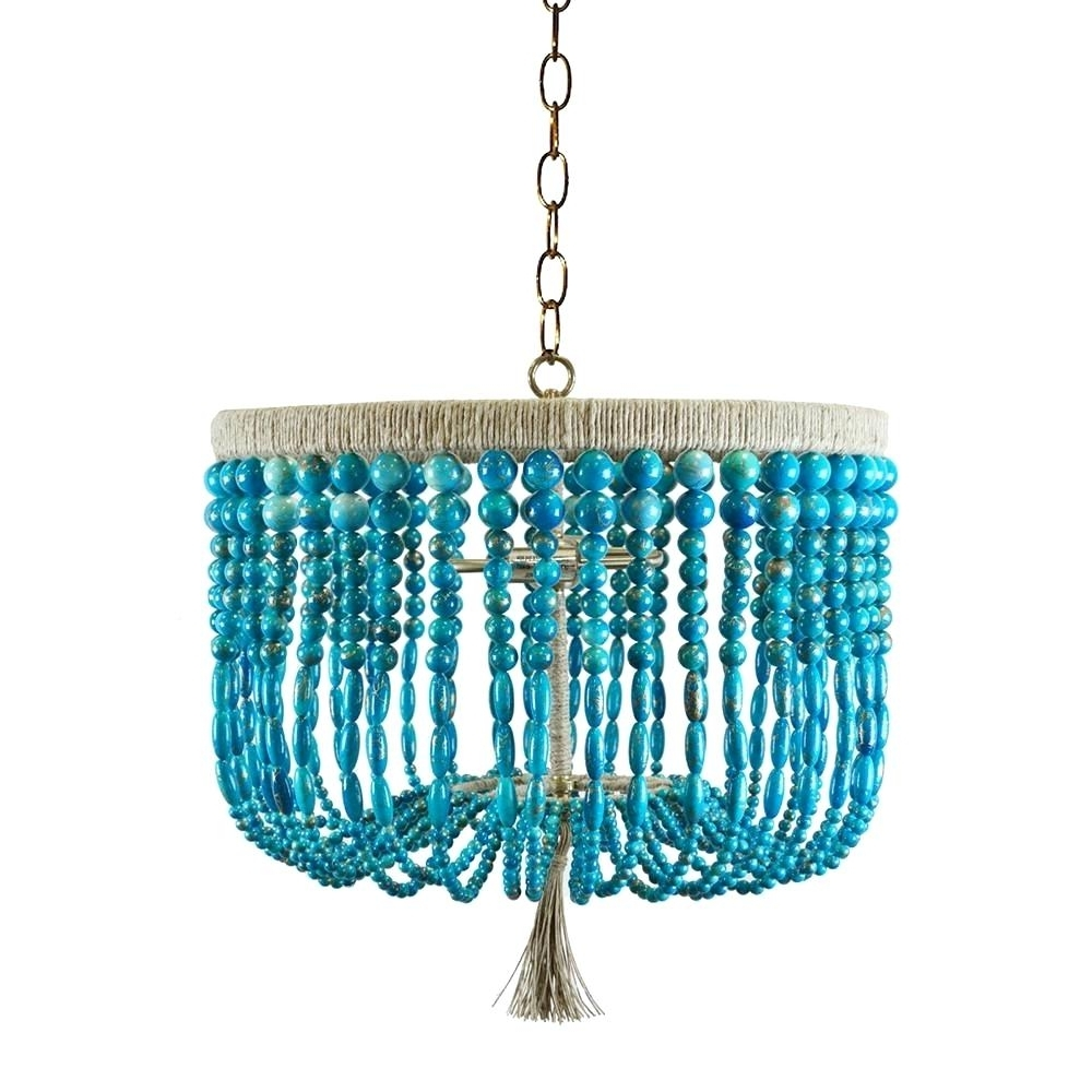 Widely Used Chandeliers ~ Blue Beaded Chandelier Turquoise Beads Six Light In Diy Turquoise Beaded Chandeliers (View 19 of 20)