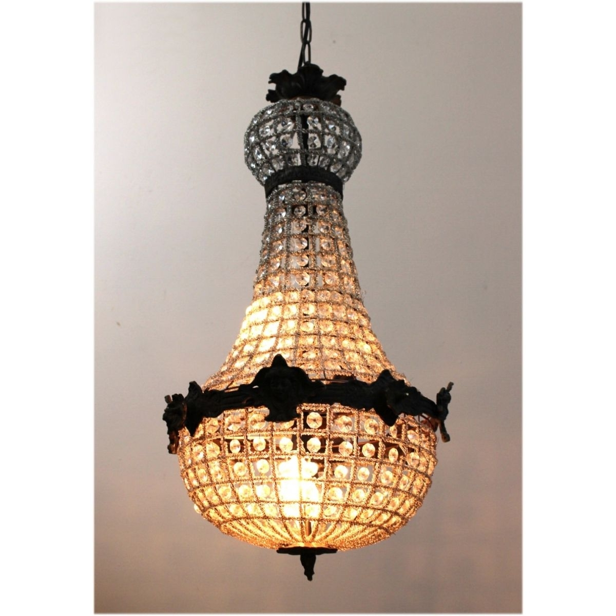 Widely Used Egyptian Chandelier Intended For Egyptian Crystal Antique Style Chandelier W Victorian Faces Aged (View 2 of 20)