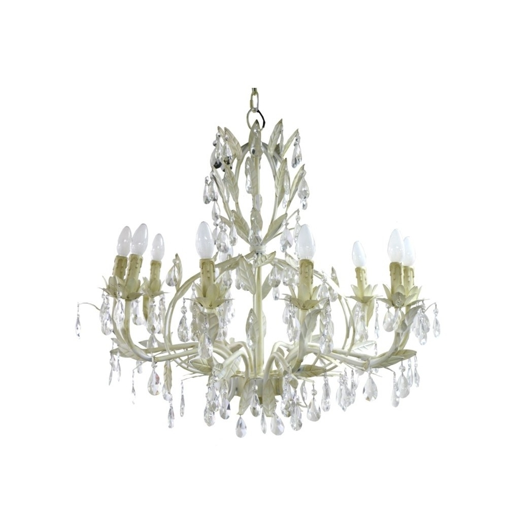 Widely Used Florence Chandelier Large Cream (View 12 of 20)