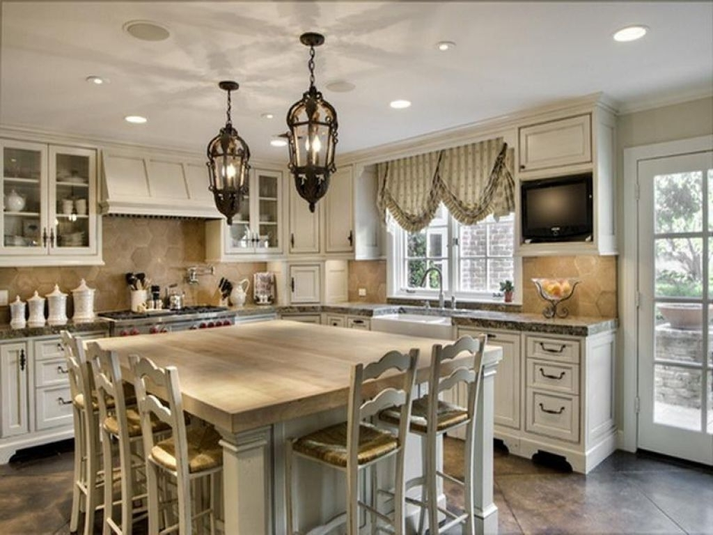 2018 Latest French Country Chandeliers For Kitchen