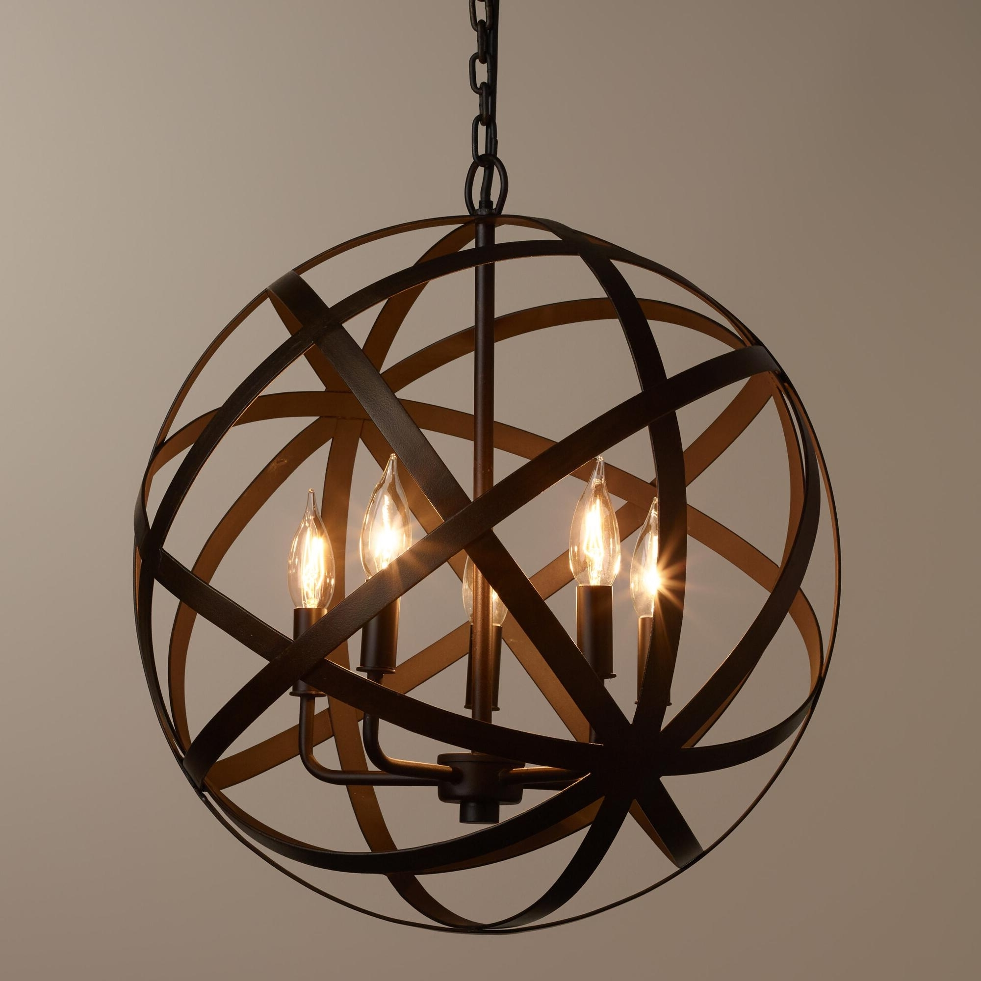 Widely Used Globe Chandeliers Intended For Chandelier: Marvellous Large Orb Chandelier Large Foyer Chandeliers (View 15 of 20)