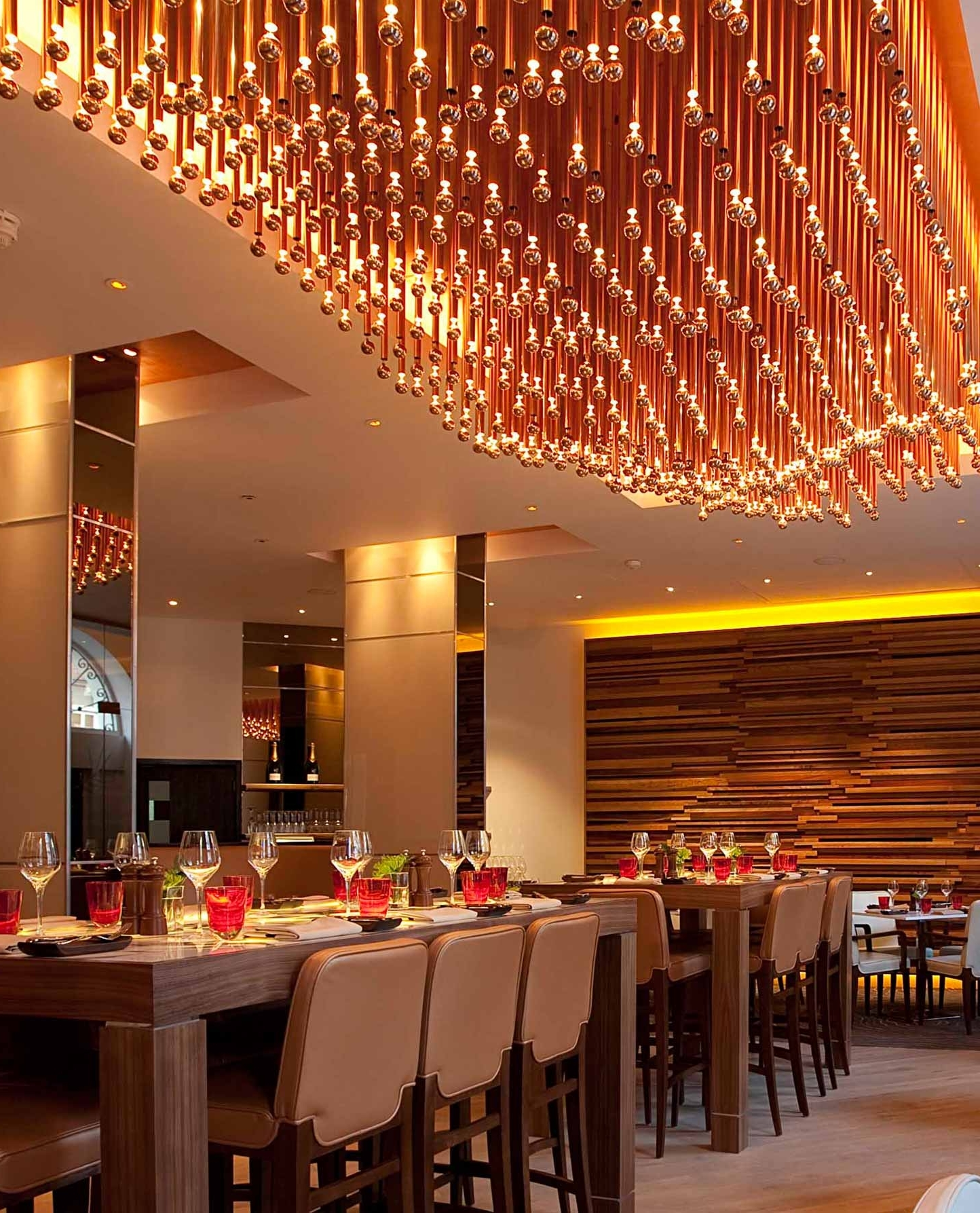 The best restaurant chandelier widely used light chandelier restaurant leeds menu the art of up cycling wine for restaurant arubaitofo Gallery