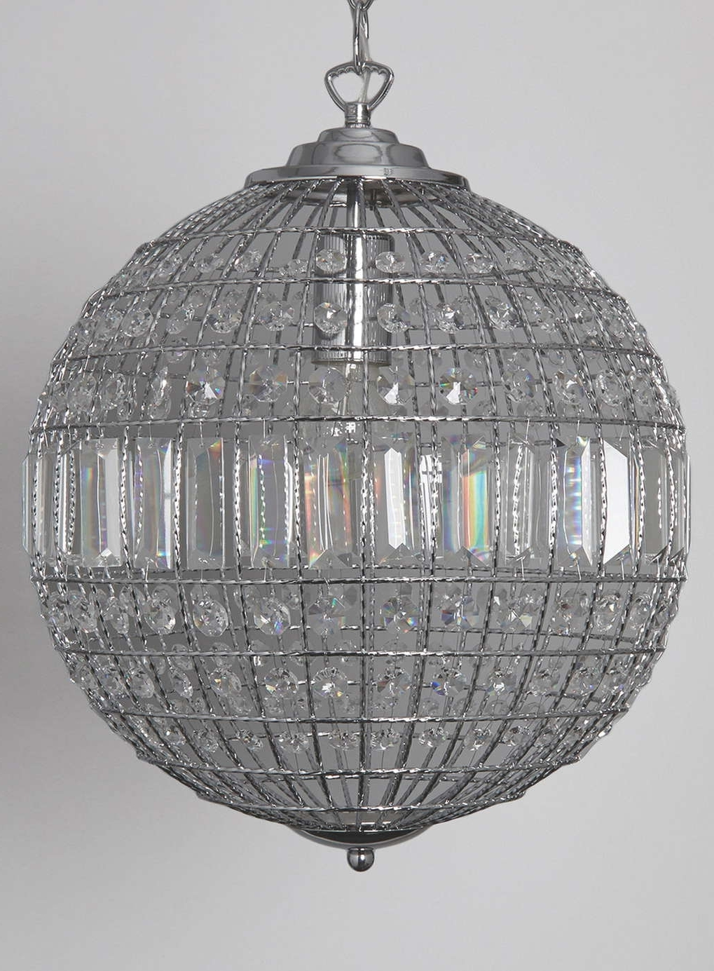 Widely Used Light : Lovely Crystal Hanging Chandelier Residence Decorating Intended For Globe Crystal Chandelier (View 8 of 20)