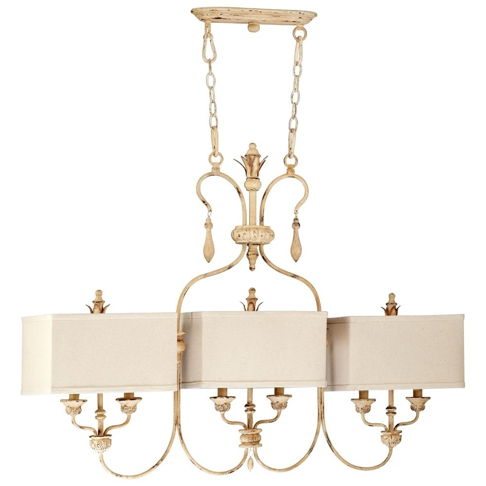Widely Used Maison French Country Antique White 6 Light Island Chandelier Inside French Style Chandeliers (View 20 of 20)
