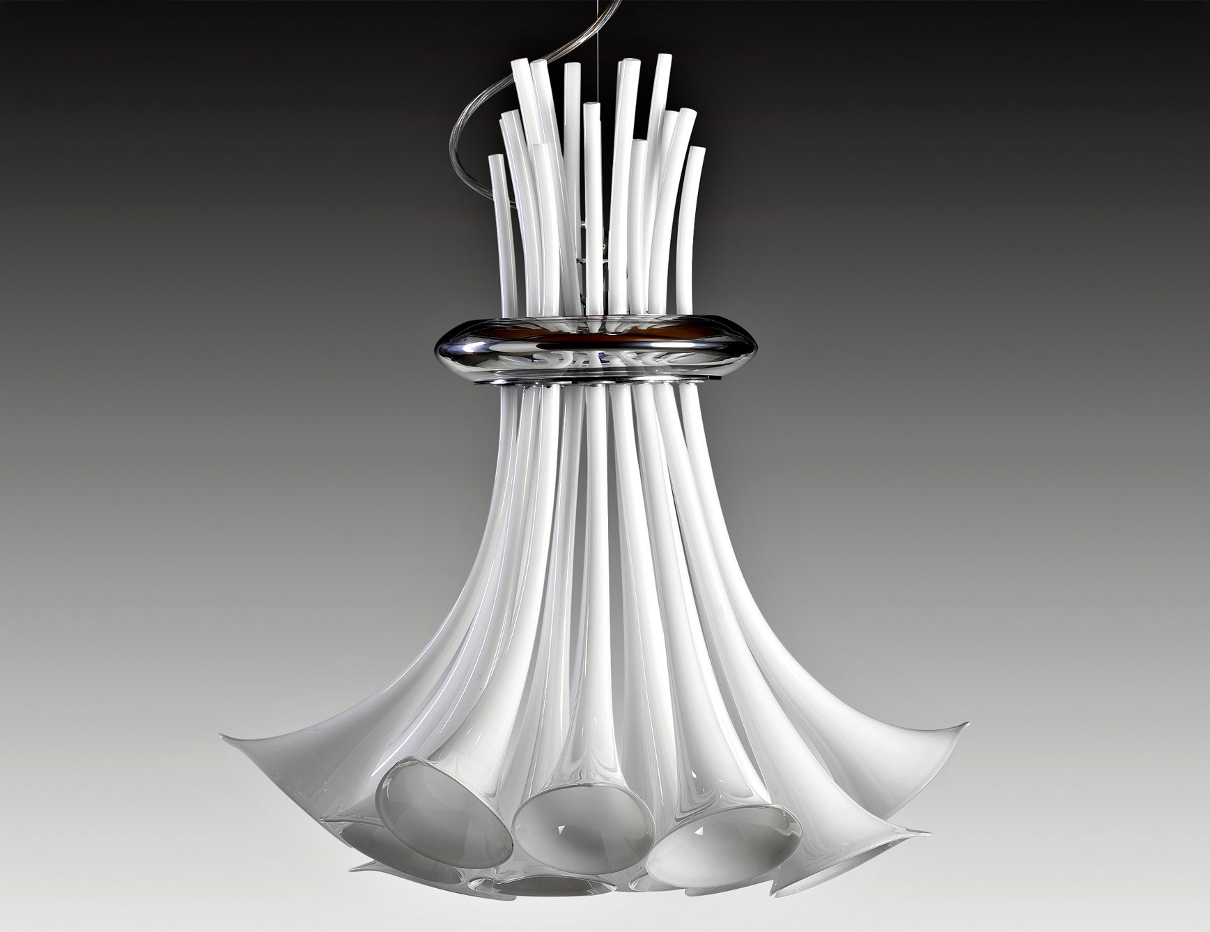 Widely Used Modern Italian Chandeliers For Nella Vetrina Zante 10002 Italian Hanging Light White Murano Glass (View 11 of 20)