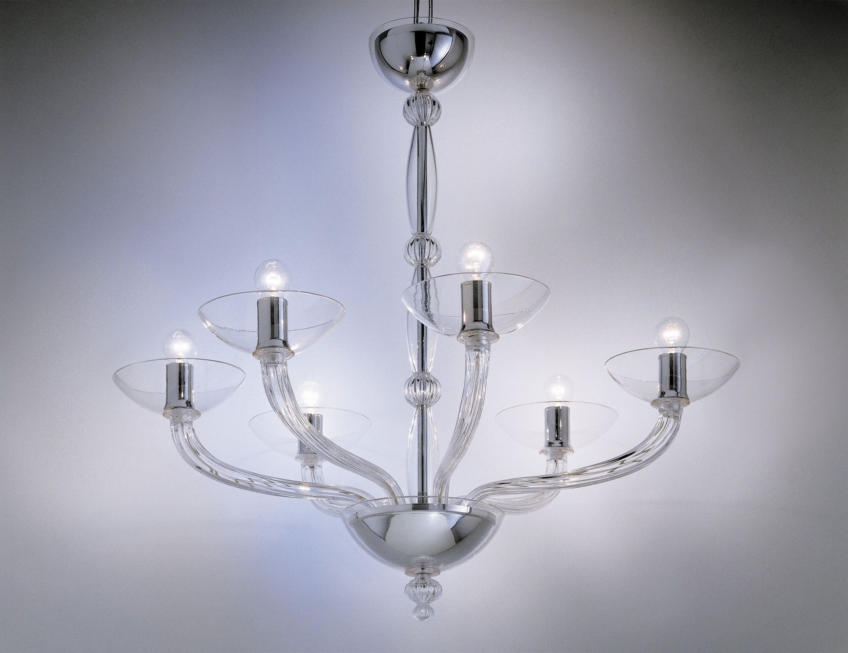 Widely Used Nella Vetrina Eclettici Ninfea 9002 06 Murano Chandelier In Clear Inside Clear Glass Chandeliers (View 20 of 20)