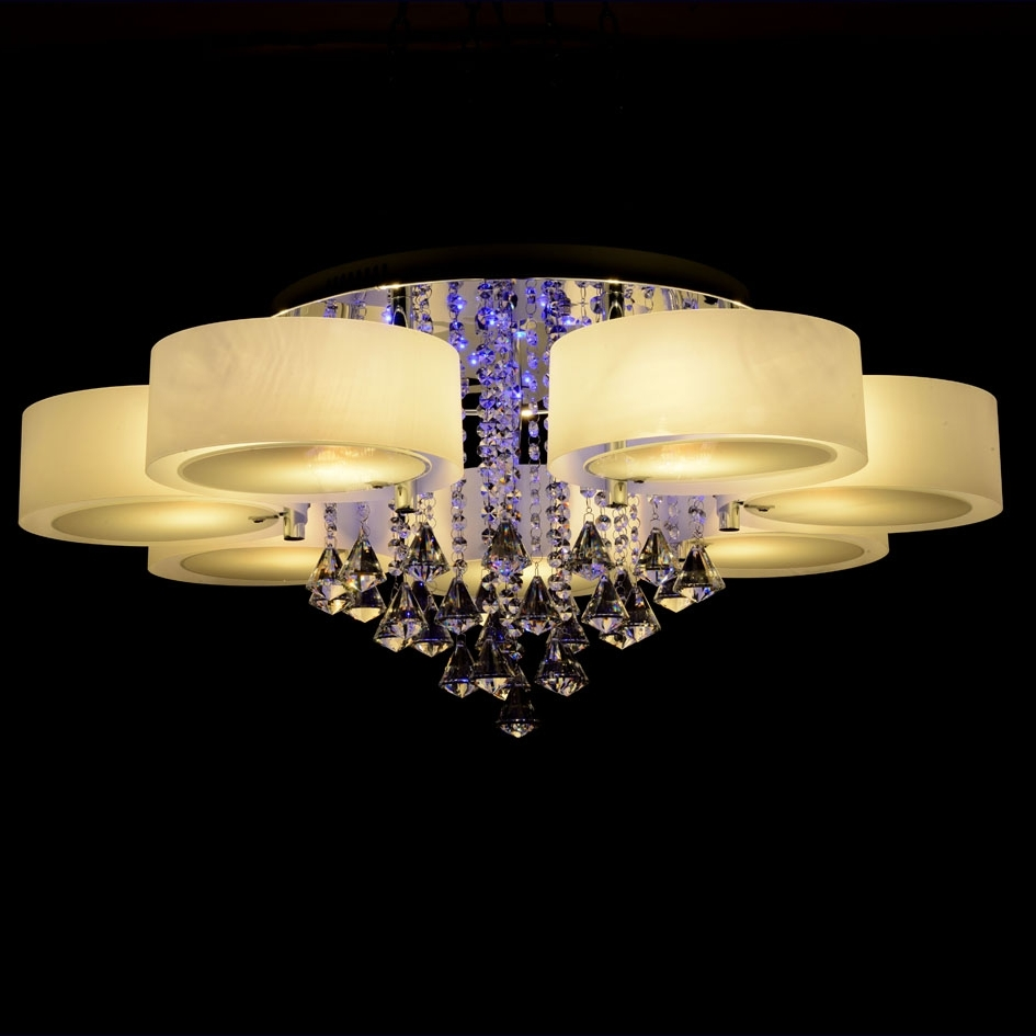 Widely Used Online Shop Ecolight Rgb Modern Chandelier Crystal With Remote Inside Modern Led Chandelier (View 20 of 20)
