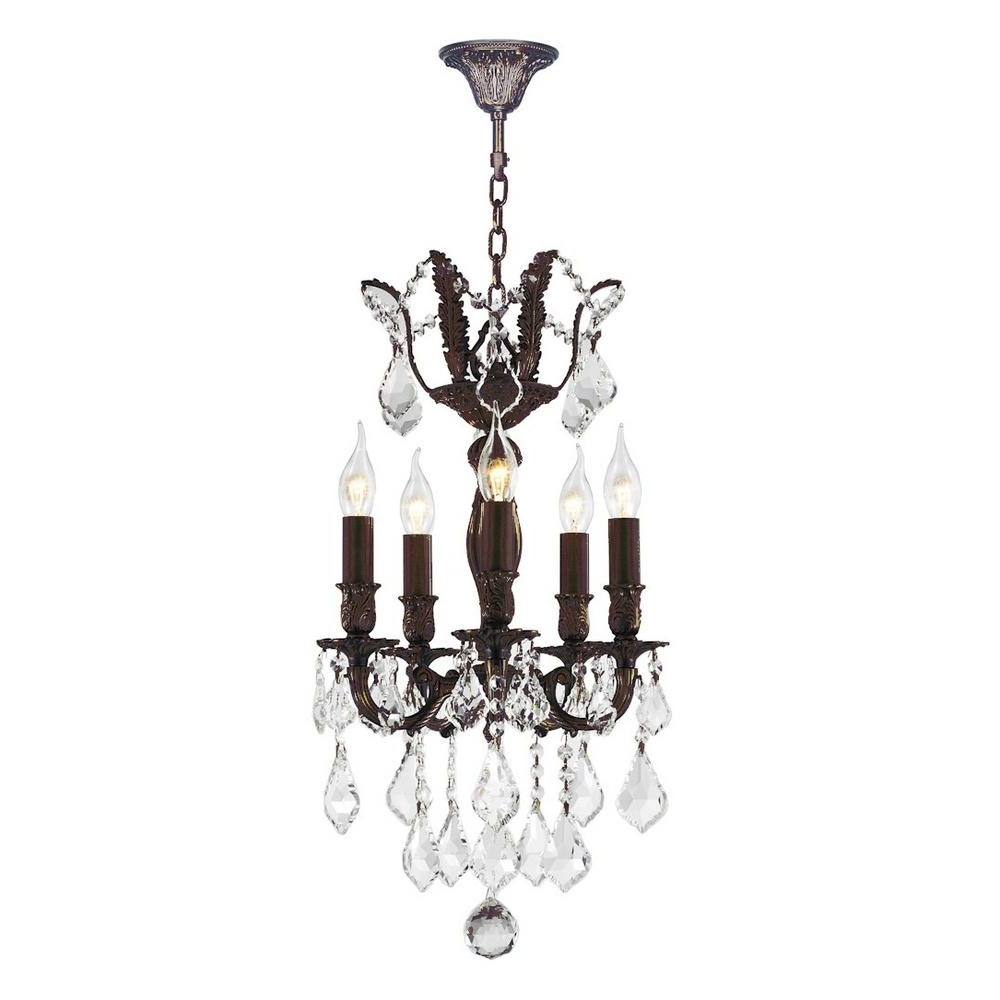 Worldwide Lighting Versailles 5 Light Flemish Brass Chandelier With Throughout Well Known Flemish Brass Chandeliers (View 15 of 20)